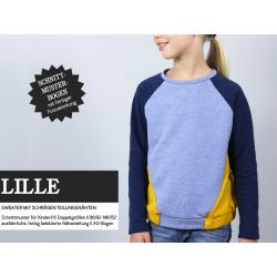 Lille - Raglansweater mit schrägen Teilungsnähten