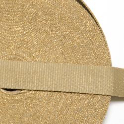 """Gurtband """"Glitzer"""" sand-gold"""