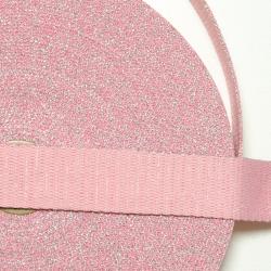 """Gurtband """"Glitzer"""" rosa-silber"""