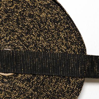"""Gurtband """"Glitzer"""" schwarz-gold"""