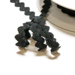Elastische Zackenlitze 11 mm schwarz