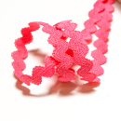 Elastische Zackenlitze 11 mm pink