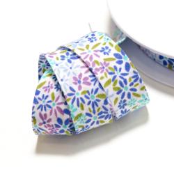 """Schrägband """"Blumen"""" blau"""