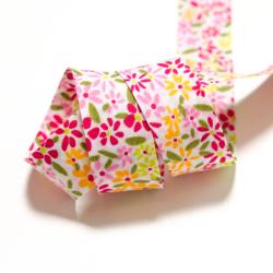 """Schrägband """"Blumen"""" pink"""