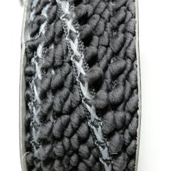 Bommelborte 14 mm dunkelgrau
