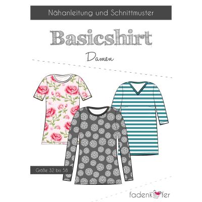 Papierschnittmuster Basicshirt Damen von Fadenkäfer