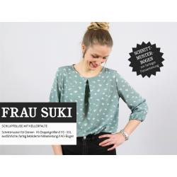 FrauSuki - Schlupfbluse mit Kellerfalte