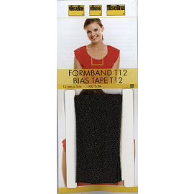 Formband schwarz 12mm x 5m