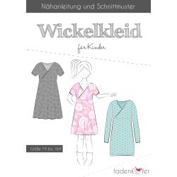 Papierschnittmuster Wickelkleid für Kinder von...