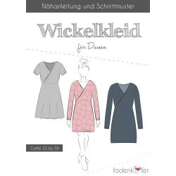 Papierschnittmuster Wickelkleid für Damen von...