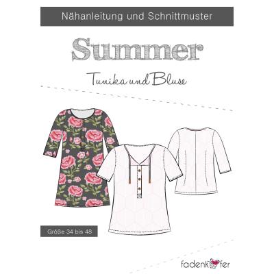 Papierschnittmuster Summer  für Damen von Fadenkäfer
