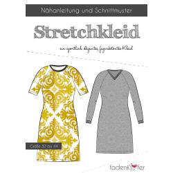 Papierschnittmuster Stretchkleid für Damen von...