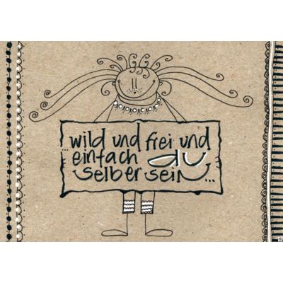 """Postkarte """"wild und frei?"""""""