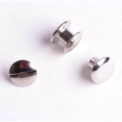 Buchschrauben silber 5mm - 10 Stück