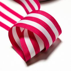 Streifenborte pink-weiss 3 cm