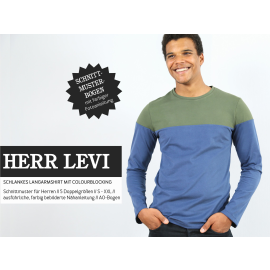 Herr Levi - Langarmshirt mit Colourblocking