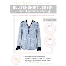 Blusenshirt Jersey No. 5 lillesol women