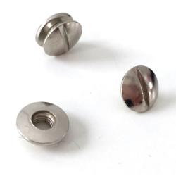 Buchschrauben silber 2mm - 10 Stück