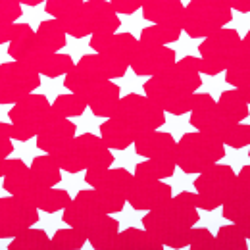 "Jersey ""Sterne"" pink-weiss"