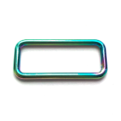Trägerschnalle/Vierkant rainbow 25mm