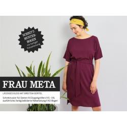 Frau Meta - lässiges Kleit mit breitem Gürtel
