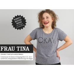 Frau Tina - lässiges Basicshirt mit kurzen Ärmeln