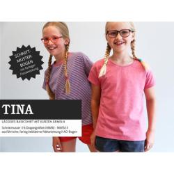 Tina - lässiges Basicshirt mit kurzen Ärmeln