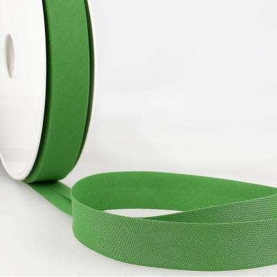 Schrägband uni grün