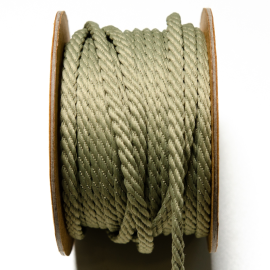 Kordel Twisted Twine dusty green 5mm - ganze Rolle 20m