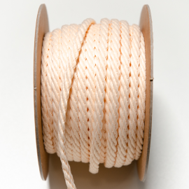 Kordel Twisted Twine ivory 5mm - ganze Rolle 20m