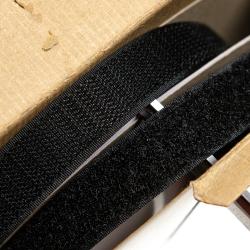 Klettverschluss 20 mm schwarz