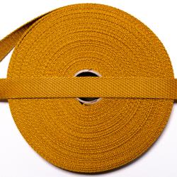 Gurtband 20 mm ocker
