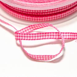 Vichyband 5mm rosa-weiss