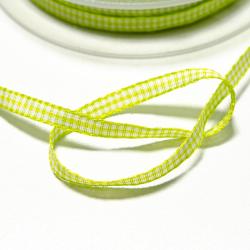 Vichyband 5mm grün-weiss