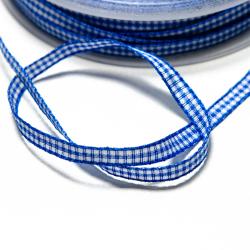 Vichyband 5mm blau-weiss