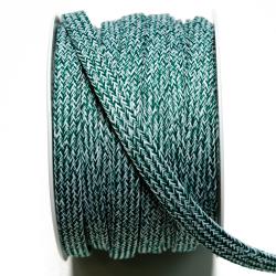 Kordeltresse meliert 10 mm grün-weiss