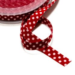 Band gepunktet rot-weiss
