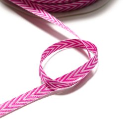 Band Chevron pink-weiss