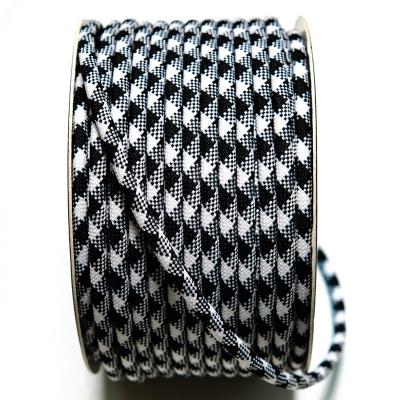 Kordel rund schwarz-weiss 5mm