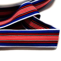 "Strickband ""Stripes"" blau-rot"