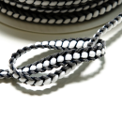 Flechtborte grau-schwarz 10 mm