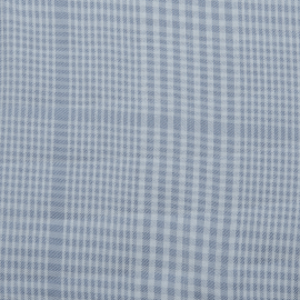 Tencel Plaid sky - MeetMILK