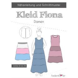 Papierschnittmuster Kleid Fiona Damen von Fadenkäfer