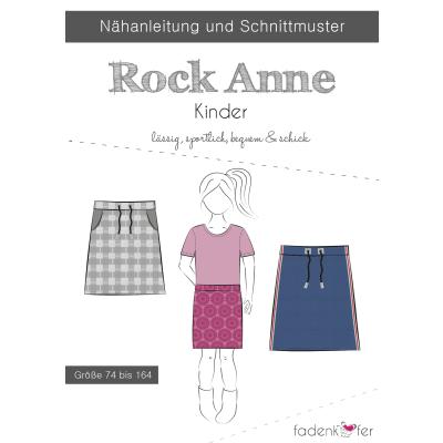 Papierschnittmuster Rock Anne Kinder von Fadenkäfer