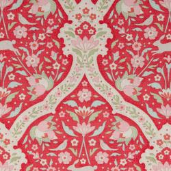 Tilda Fabric Hare Tile Red