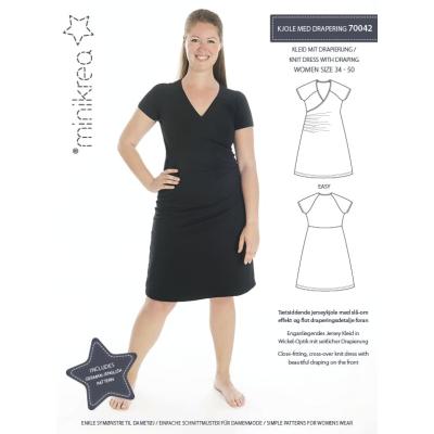 Kleid mit Drapierung Woman - minikrea