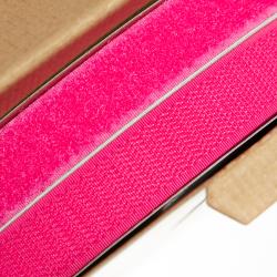 Klettverschluss 20 mm pink