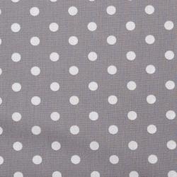 "Baumwolle ""Dots"" grau"