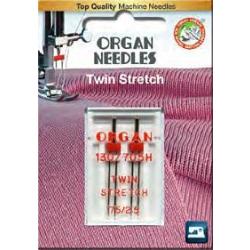 Organ Needle Twin Stretch - Zwillingsnadel 75/2.5 2 Stk.