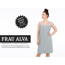 Frau Alva - Sommerkleid mit V-Ausschnitt